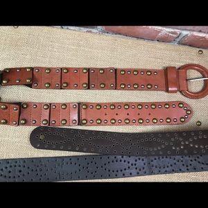 Leather belt bundle (2) M/L